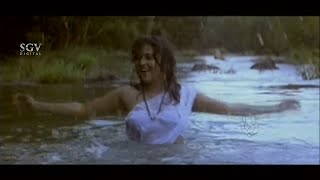 Yamuna Bathing in Forest River Comedy Scenes | Ravichandran Best Scenes from Kannada Movies Superhit