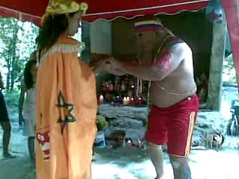 gran cacique guaicaipuro consagrando y coronando a su hija