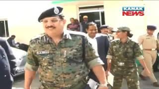 Panchayat Election: Police DG K B Singh & IG R P Koche Visit Malkangiri