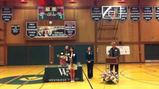 Erica Wu Table Tennis Olympian Inducted into Westridge High School Athletic Hall of Fame
