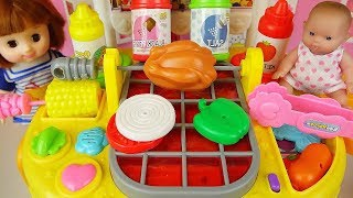 Baby doll cooking food kitchen toys Baby Doli play