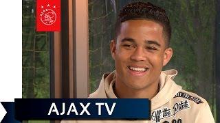 Ajax TV Kick Off - Justin Kluivert hoopt op een 'puntertje'
