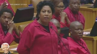 EFF Cause Chaos In Parliament. Jacob Zuma Can't Speak In Parliament.