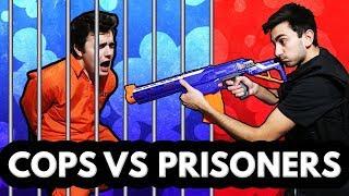 NERF WAR: Cops vs Prisoners Challenge! (Real Life Nerf Challenge)