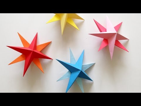 DIY Hanging Paper 3d Star Tutorial for Christmas, Birthday, Party Decorations