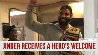 WWE Champion Jinder Mahal Receives A Hero's Welcome (VIDEO)