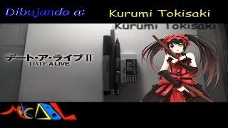 Dibujando a: Kurumi Tokisaki (Date a Live)