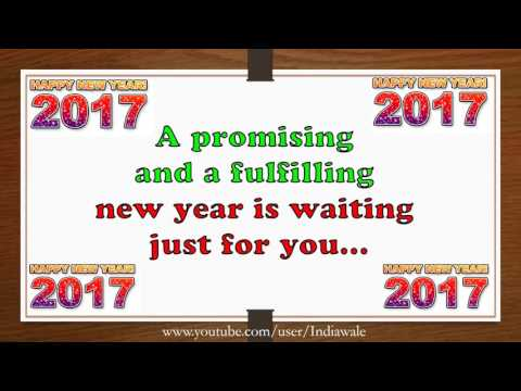 Happy New Year 2017 - Beautiful Wishes/New Year greetings/Whatsapp Video/E-card/HD/Free Download