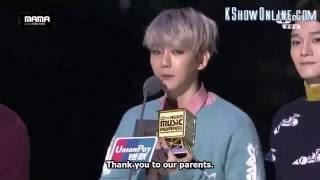 [Eng Sub] EXO winning at MAMA 2015