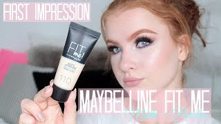 ♡ Maybelline Fit Me Matte + Poreless Foundation | Førstehåndsindtryk + Demo ♡