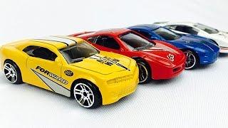 Carros de Carreras para Niños - Autos en Colores Primarios