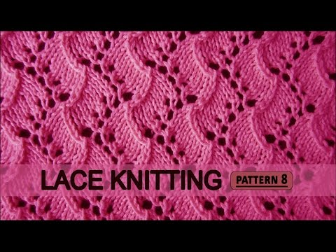 LACE LEAF SCARF - Lace Knitting Repeat Explained Stitch by Stitch. Part 1 - V...