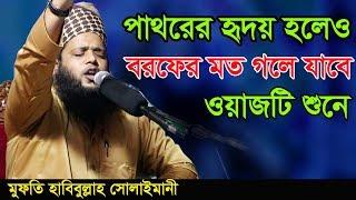 Bangla Waz 2018 New Mufti Habibullah Solaimani এই ওয়াজটি শুনলে পাথরের হৃদয় বরফের মতো গলে যাবে