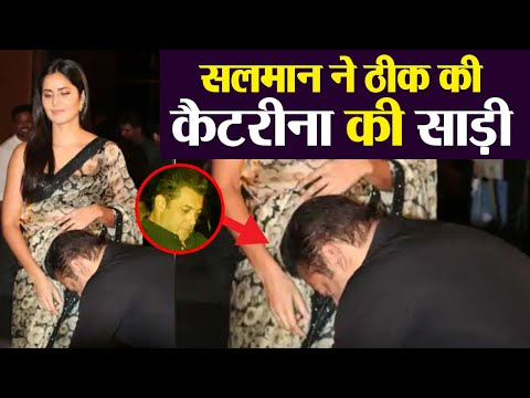 Xxx Mp4 Salman Khan Fixes Katrina Kaif 39 S Saree During Bharat Song Launch Check Out FilmiBeat 3gp Sex