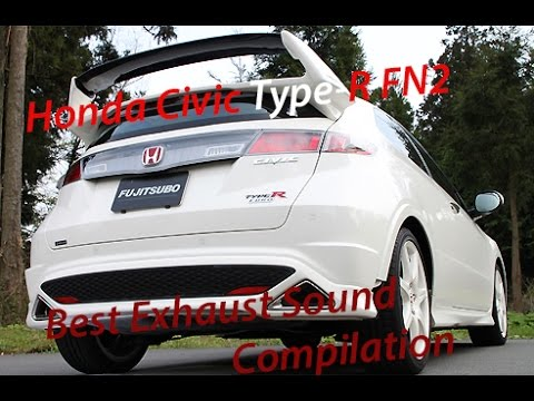 Honda Civic FN2 Type R Best Exhaust Sound Compilation!! *HD*