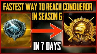 The fastest way to reach conqueror in a week time pubg mobile | push rank in conqueror in pubg |