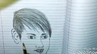 how to draw a man portrait pencil se sketch kese banaye