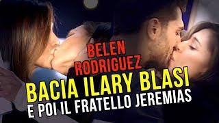 Belen Rodriguez, hot al Grande Fratello vip, bacia la Blasi e il fretello