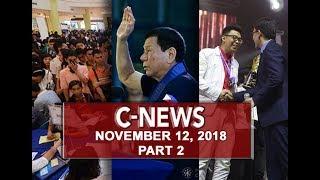 UNTV: C-News (November 12, 2018) PART 2