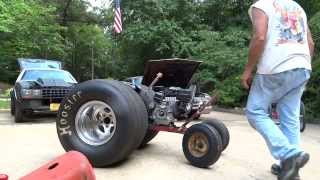 """YOU TUBE """"WHEELIE HORSE"""" TRACTOR UPDATE* ENGINE MOUNTED*""""DRAGSTER SLICKS WOW!"""