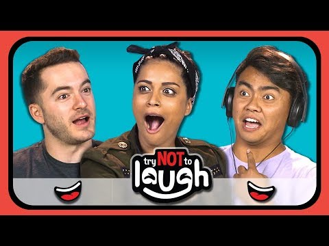 YouTubers React To Try To Watch This Without Laughing Or Grinning 11