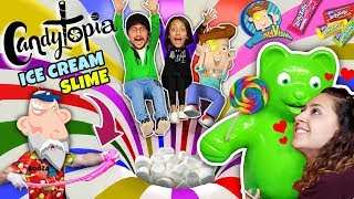 CANDY LAND in REAL LIFE w/ MARSHMALLOW BALL PIT + ICE CREAM SLIME! (FUNnel Fam NYC Candytopia Vlog)