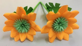 How to Make Beautiful Flower with Paper - Making Paper Flowers Step by Step - DIY Paper Flowers #10
