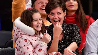 Katie Holmes and Daughter Suri Enjoy Mommy-Daughter Night Out at the Knicks Game -- See the Pics!