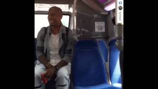 TYRESE Returns to a Public Bus Where He Started and Sings Again -- Great Voice ! [VIDEO]