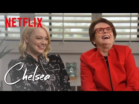 Emma Stone and Billie Jean King | Chelsea | Netflix