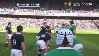 Rugby Union Six Nations 2015 Round 5 Scotland vs Ireland Full match HD