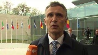 Doorstep by NATO Secretary General Jens Stoltenberg at EU Foreign Affairs Council, 19 APR 2016
