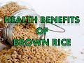 Download Video Download 10 Health Benefits of Brown Rice 3GP MP4 FLV