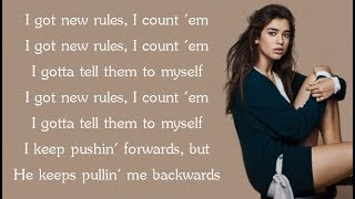 Dua Lipa - NEW RULES (Lyrics)