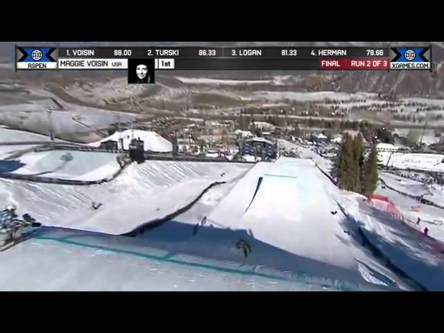 Maggie Voisin Wins Silver Women's Ski Slopestyle Final X Games Aspen 2014
