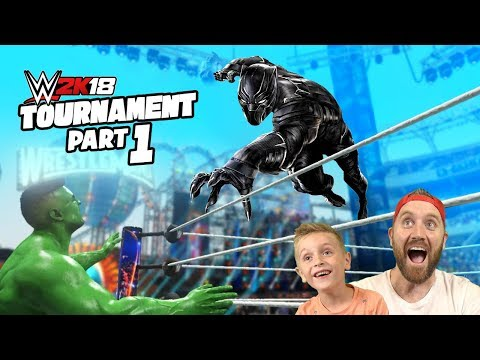 Black Panther vs Hulk WWE 2k18 Game Tournament Avengers Match 1