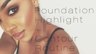 Get Ready With Me | Foundation, Contour + Highlight For Oily Skin