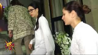 Emotional Kareena Kapoor Khan With Sister Karisma Kapoor At Rani Mukerji's Father's Prayer Meet