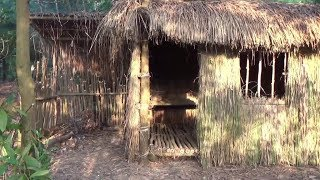 Primitive Technology:used-Build Grass hut(Made From Shed)-Primitive Life