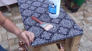 Como Aplicar tecido em Móveis (forração de móvel com Tecido)