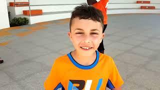 Funny kids vs Teenage Mutant Ninja Turtles! family fun pretend play video