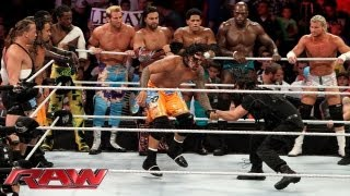 A slew of Superstars battle The Shield in an 11-on-3 Handicap Elimination Tag Team Match: Raw, Sept.