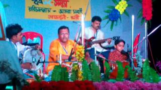 Amar Ganer Mala Ami Korbo Kare Dan BY ANISH SAHA , Stage Performance .