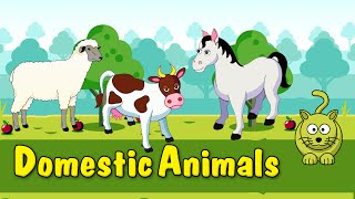 Learn Domestic Animals | Animated Video For Kids | English Animation Video For Children
