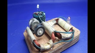 Free energy self running machine generator using dc motor  - at home  New experiment 2018