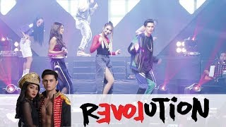 POWERFUL PERFORMANCE: Sarah Geronimo with Nadine Lustre and James Reid!