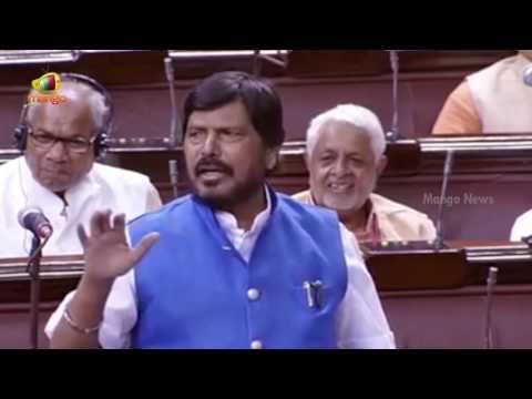 Ramdas Athawale Funny Speech Over Dalit Atrocities | Rajya Sabha | Parliament Session | Mango News