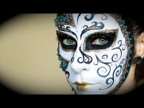 Masquerade Mask Makeup Tutorial.