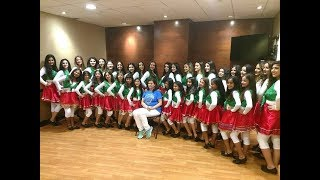 persian New dance رقص زیبای ایرانی گروه رقص نیوشا در مسابقه بسکتبال