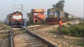 2 trains accident? Illusion or reality ? Mega compilation of rarest diamond crossing of IR
